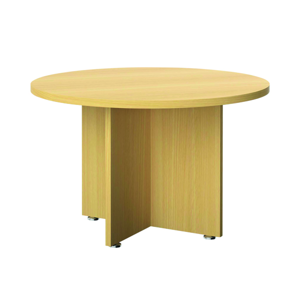Avior Executive Circular Meeting Table 1200mm Nova Oak TR1200MTNOAK