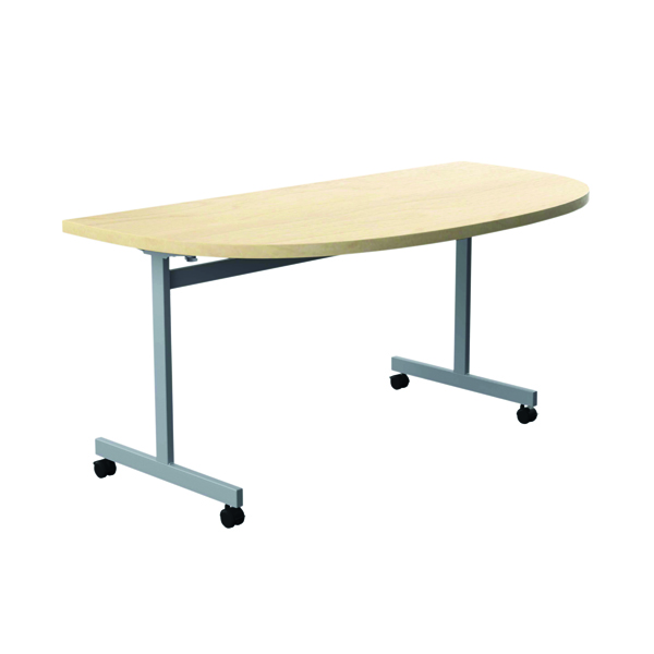 Jemini D-End Tilt Table 1400 x 700mm Maple/Silver OETT1470DENDSVMA