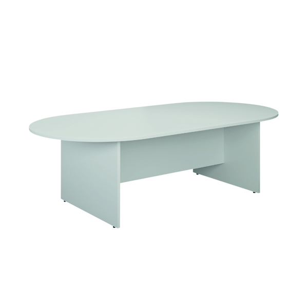 Jemini D-End Meeting Table 1800mm White TK1810DEWH