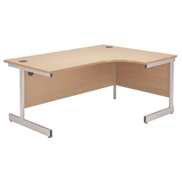 Jemini Beech 1200mm Right Hand Radial Cantilever Desk KF838042