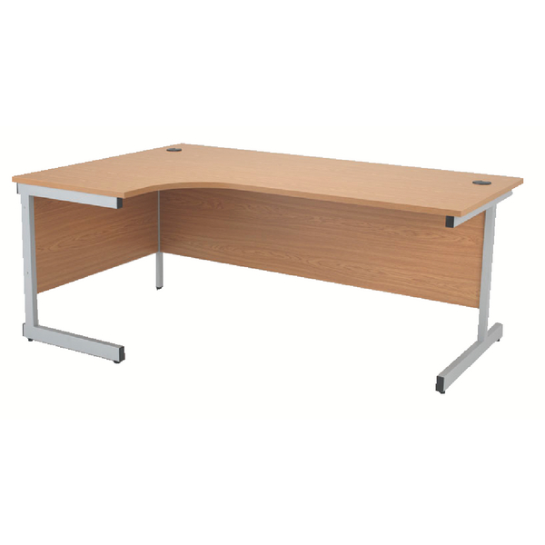 Jemini Oak 1600mm Left Hand Radial Cantilever Desk KF838046