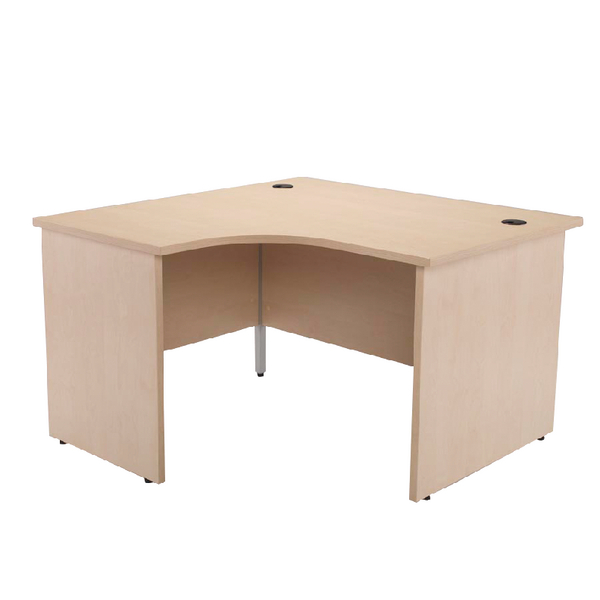 Jemini Maple 1200mm Left Hand Panel End Radial Desk KF838059