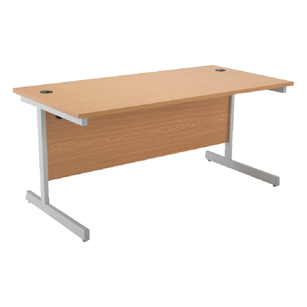 Jemini Oak 1600mm Rectangular Cantilever Desk KF838079
