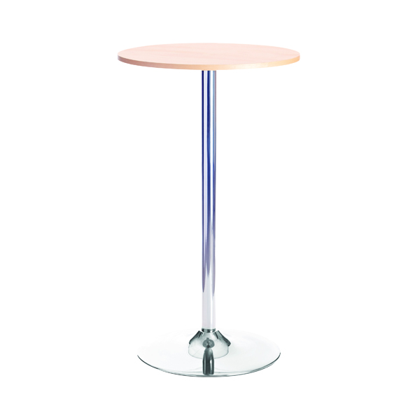 Arista Beech/Chrome 600mm Tall Bistro Trumpet Table Beech Kf838281