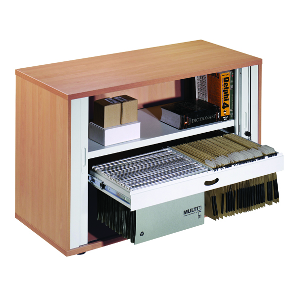 Arista Desk High Side Opening Beech Tambour KF838307