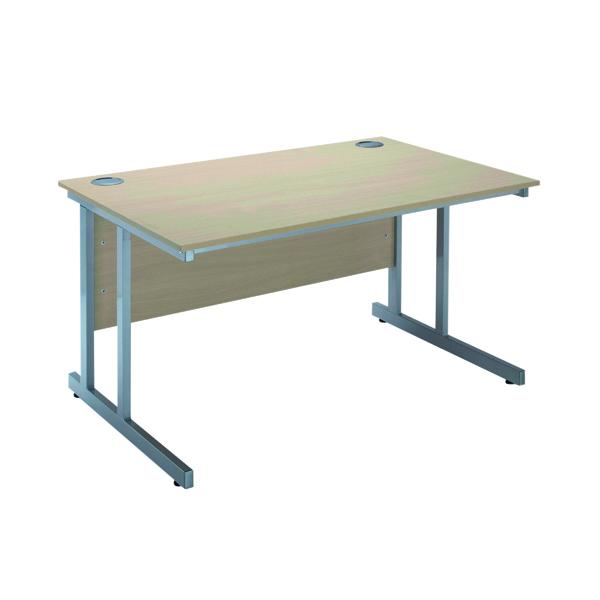 Serrion Warm Maple 1200mm Rectangular Cantilever Desk KF838516
