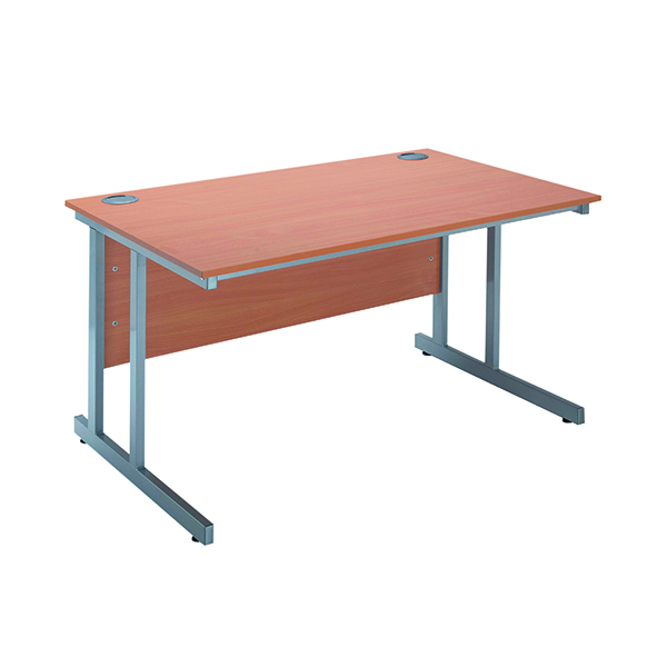 Serrion Bavarian Beech 1500mm Rectangular Cantilever Desk KF838517