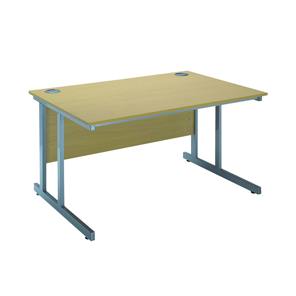 Serrion Ferrera Oak 1500mm Rectangular Cantilever Desk KF838518