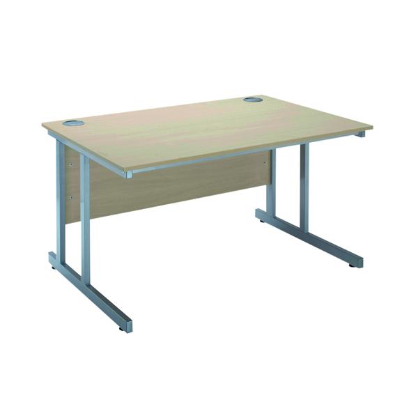 Serrion Warm Maple 1500mm Rectangular Cantilever Desk KF838519