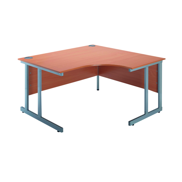 Jemini Intro Bavarian Beech 1200mm Radial Right Hand Cantilever Desk KF838526