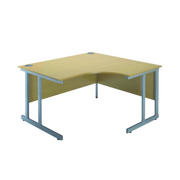 Serrion Ferrera Oak 1200mm Radial Right Hand Cantilever Desk KF838527