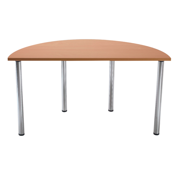 Jemini Bavarian Beech Semi-Circular Meeting Room Table Standard Leg KF838575