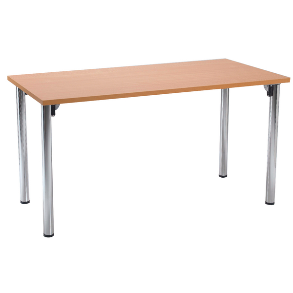 Jemini Bavarian Beech Rectangular Meeting Room Table Folding Leg KF838576