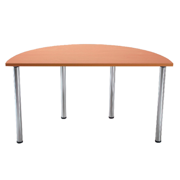 Jemini Bavarian Beech Semi-Circular Meeting Room Table Folding Leg KF838578