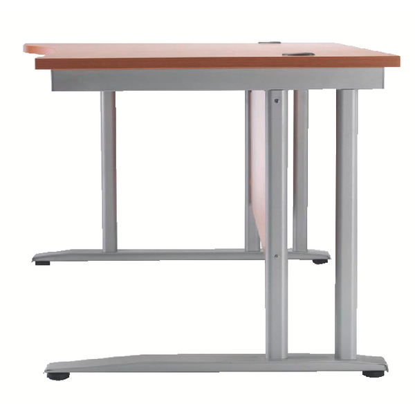 Arista Beech 1600mm Wave Desk Left Hand KF838640