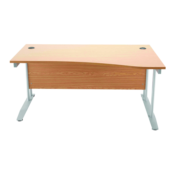 Arista Oak 1600mm Wave Desk Right Hand KF838643