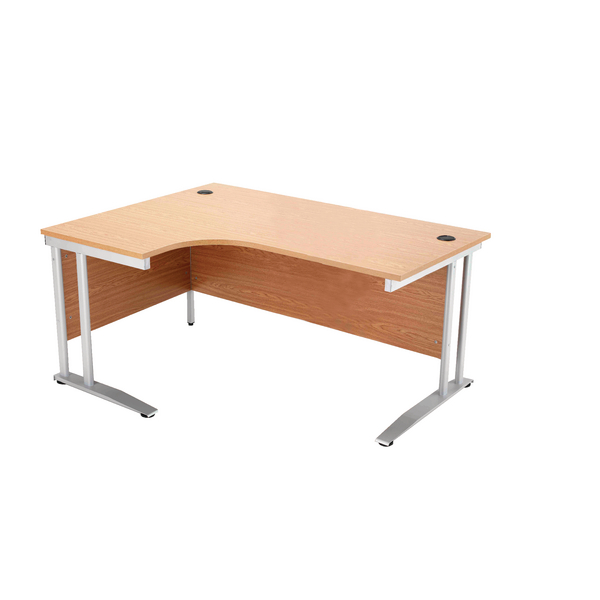 Arista Left Hand Maple 1600mm Radial Desk KF838656