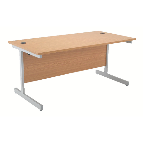 Jemini Cantilever 1400mm Oak Rectangular Desk KF838783