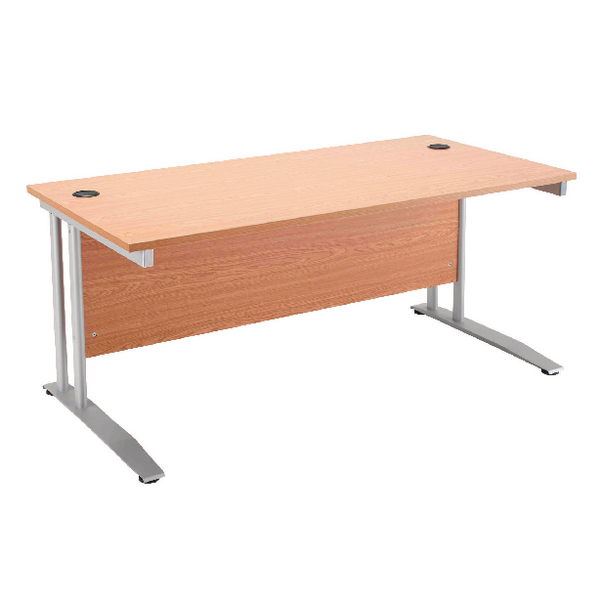 Arista Cantilever 1400mm Beech Rectangular Desk KF838786