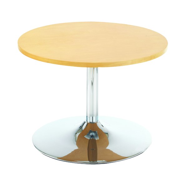 Arista Beech Low Bistro Table With Trumpet Base KF838813