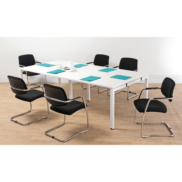 Arista White 2400mm Bench Boardroom Table KF838861