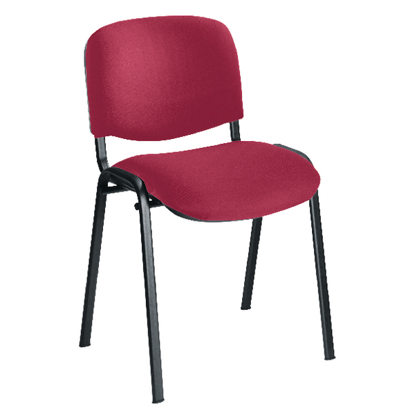 First Multipurpose Stacking Chair Black Frame Claret Upholstery KF839225