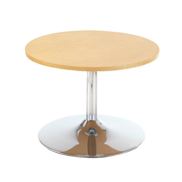 First Bistro Table Trumpet Base 800mm Diameter Low Light Beech KF839232