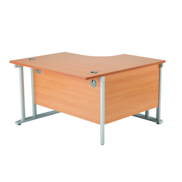 Arista 1200mm RH Cantilever Radial Desk Oak KF839275