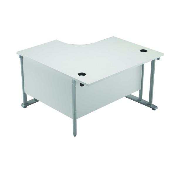Arista 1200mm LH Cantilever Radial Desk White KF839278