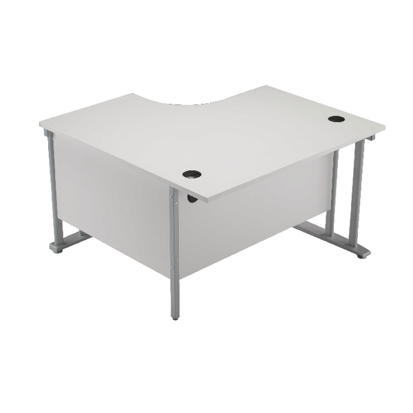 Arista 1200mm LH Cantilever Radial Desk Beech KF839281