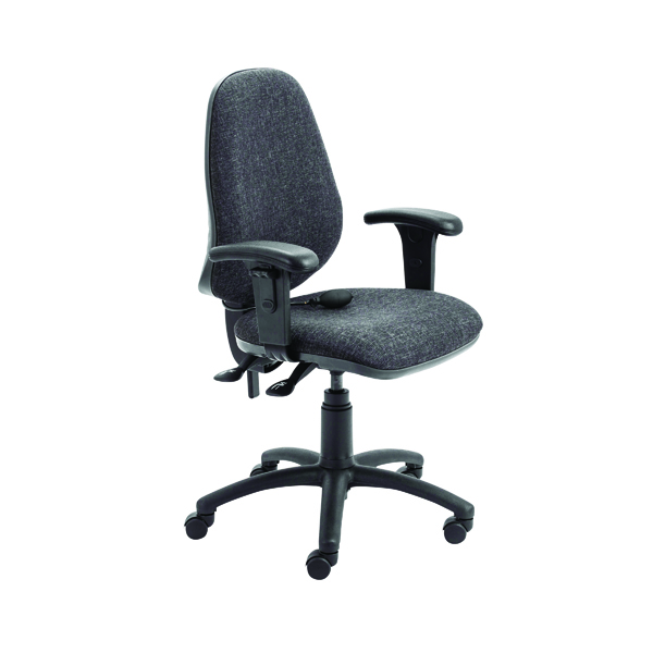 FR First High Back Posture Chair with Adjustable Arms Black KF839326