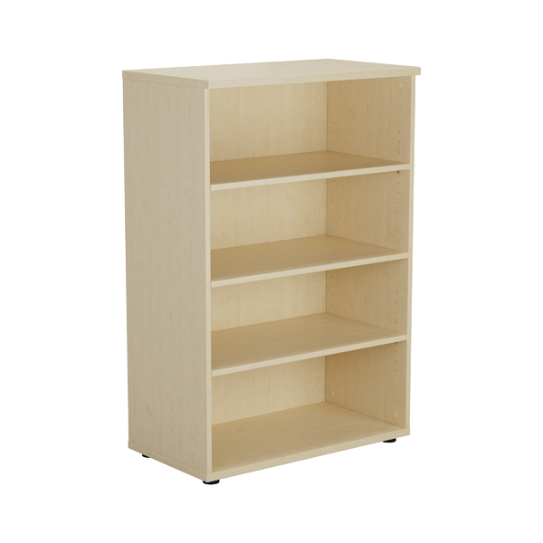 Jemini Maple 1200mm 1 Shelf Bookcase KF840135