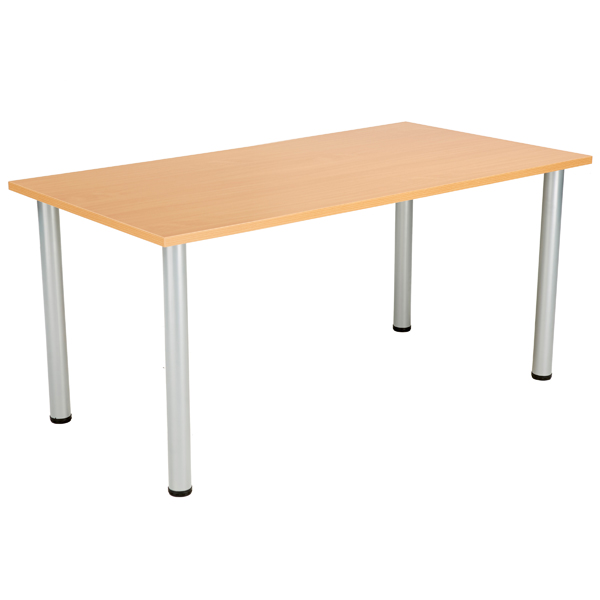 Jemini Beech 1200x800mm Rectangular Meeting Table KF840170