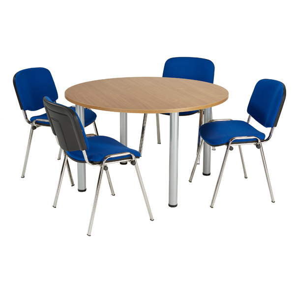 Jemini Beech 1200mm Circular Meeting Table KF840173