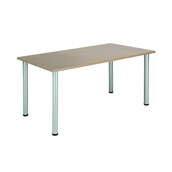 Jemini Grey Oak 1200x800mm Rectangular Meeting Table KF840195