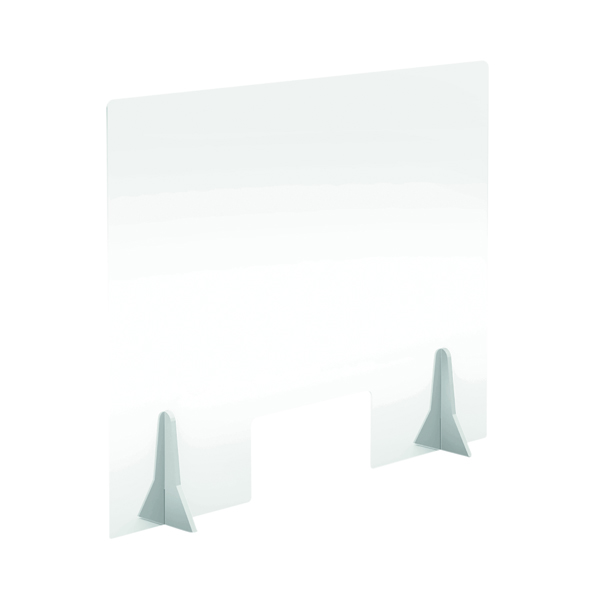 Jemini Free Standing Acrylic Screen 780x600x4mm Clear KF90338