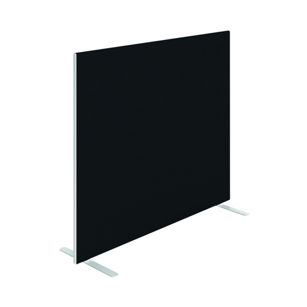 Jemini Floor Standing Screen 1400 x 1200mm Black KF90495