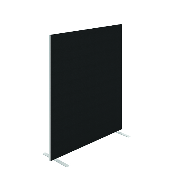 Jemini Floor Standing Screen 1400 x 1600mm Black KF90497