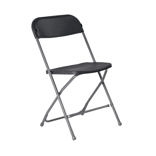 Titan Straight Back Folding Chair Charcoal TCFLFC1-C
