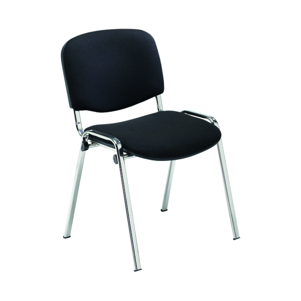 Jemini Multipurpose Stacker Chair Chrome/Black CH0503BK