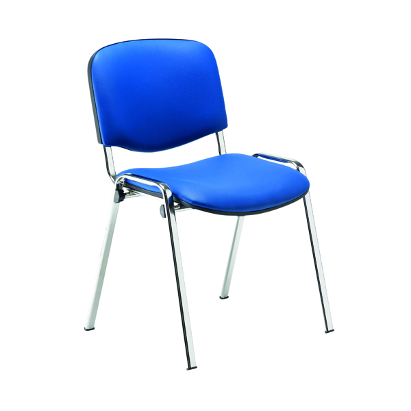 Jemini Multipurpose Stacker Chair Chrome/Blue Polyurethane CH0503PUBL