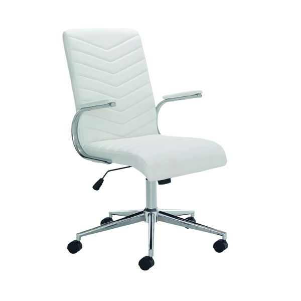 Arista Tarragona Leather Look Chair White CH0789WH