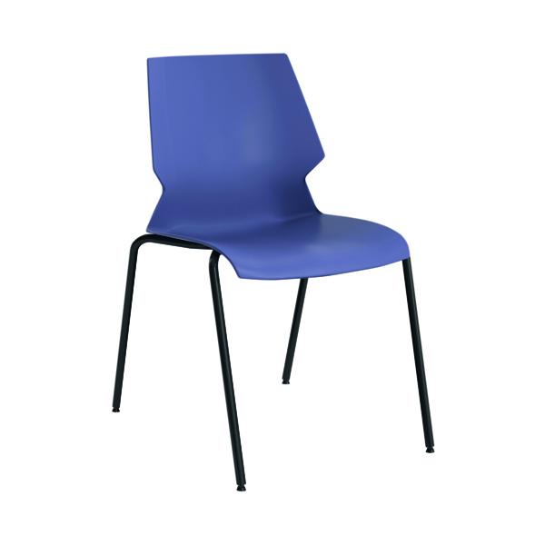 Jemini Uni 4 Leg Chair Blue/Grey T-UNI-4LEG-B-GREY