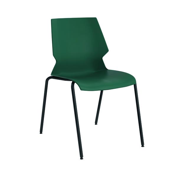 Jemini Uni 4 Leg Chair Green/Grey KF90712