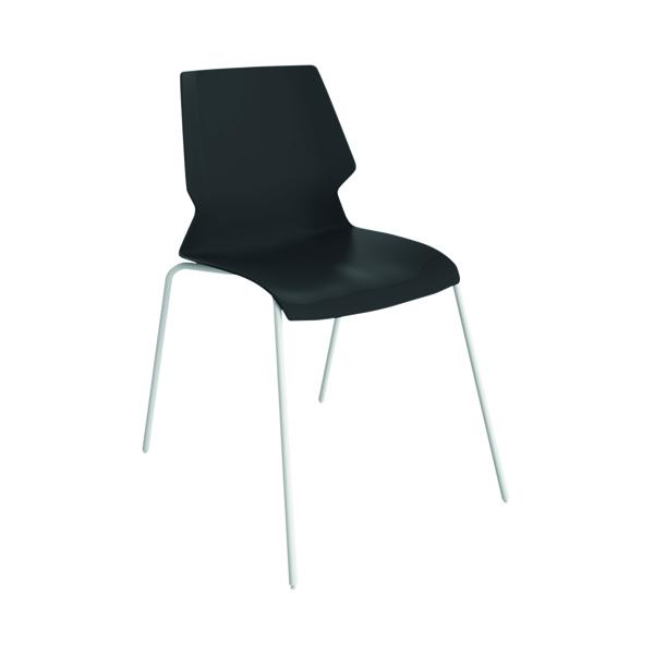 Jemini Uni 4 Leg Chair Black/White T-UNI-4LEG-BL-WHITE