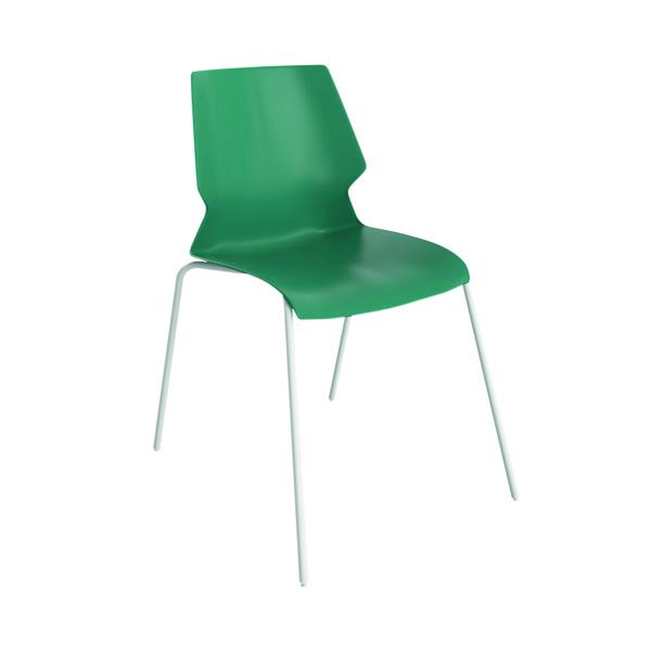 Jemini Uni 4 Leg Chair Green/White KF90716