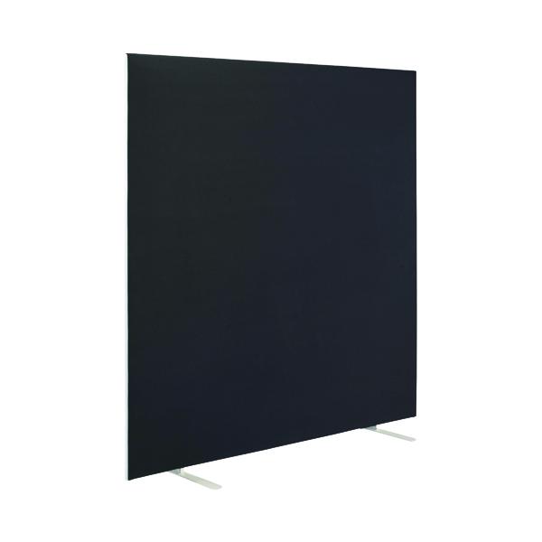 First Jemini Floor Stand Screen 1400 x 1200mm Black KF90969