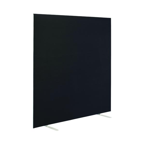 First Jemini Floor Stand Screen 1400 x 1600mm Black KF90971