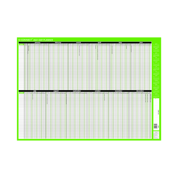 Q-Connect Day Planner Mounted 855 x 610mm 2021 KFDPM21