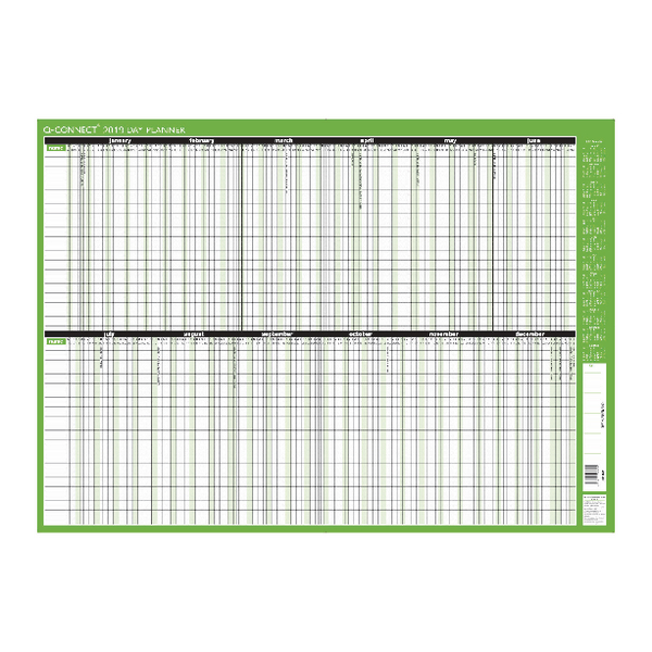 Q-Connect 2019 Day Planner Unmounted 855x610mm KFDPU19